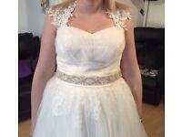 Champagne wedding dress size 12