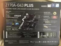 MSI Z170A-G43 PLUS MOTHERBOARD
