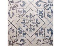 Antique blue Harran vintage floor tiles from Walls & Floors