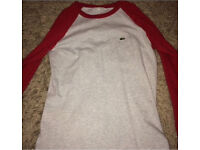Boys Lacoste long sleeve age:14