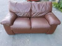 Sofa - Extra Comfy Brown Leather Sofa