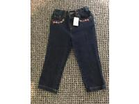 Catch Kidston toddler girls jeans NEW 2-3 years