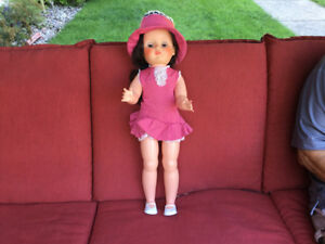 Antique walking doll 24 inches high