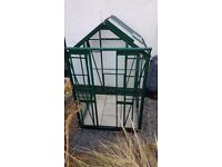 Simplicity Sandon Green Greenhouse 4ft2 wide (1295mm) x 4ft2 long (1295mm)