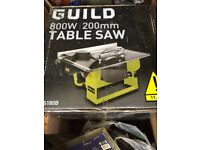 Table Saw, Guild , Brand New & Sealed ,, 800w x 200mm,, Bargain