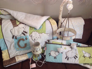 Fisher Price Baby Lamb ABC crib/bedroom set