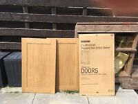 3packs of 2 oak effect kitchen larder doors