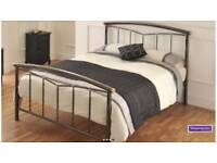 King size metal bed frame and mrmory foam mattress