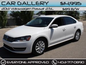 2013 Volkswagen Passat 2.5L $/89B/W YOU'RE APPROVED-QUICK  EASY