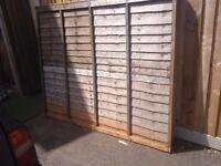 Wooden Fence Panels Overlap Fencing Panel 6ft * 5ft