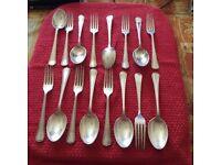 Vintage argle SHM & Co Dessert forks and spoons 8 of each
