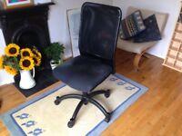 Black Swivel Desk Chair