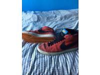 Uk size 10 Red Nike Blazers