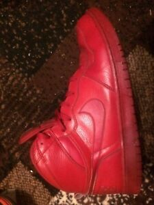 All red Nike size 13