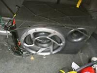 Pioneer car subwoofer speaker and 500w Amp