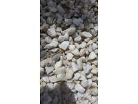 White decorative stones