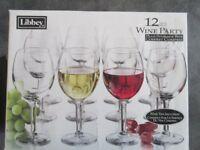 Libbey 12 piece Wine Glass Set in a very sturdy carry box