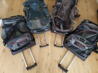 4 Large Hold Alls with Wheels and Pull Out Handles (£30 each)