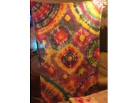Hand dyed cot blanket