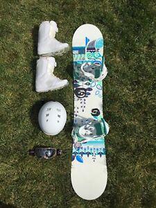 Women's snowboard set - board, boots, helmet, goggles