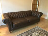 Brown Leather Chesterfield Sofa - Marks and Spencer