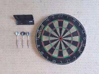 Nodor Bristle Dart Board and set of Darts