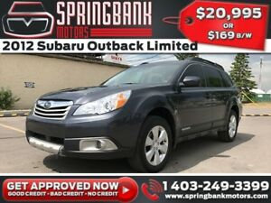 2012 Subaru Outback 2.5 Limited AWD w/Leather, Sunroof, Backup C
