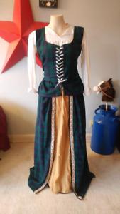 Green Navy Plaid dress