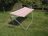 Garden Hammock for complete relaxation. Complete with own stand. Suitable for adults and children