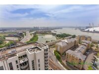 Large 1 bedroom with modern kitchen & bathroom with views across the river in Blackwall Way, London