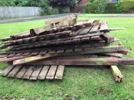 FREE - Fire Wood from old fence
