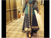 Stunning Asian Party Dress with trail - Asian Wedding Dress - Asian Event - Asian Partywear