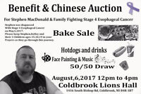 Benefit & Chinese Auction for Stephen MacDonald & family