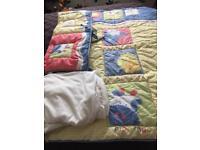 Cot mattress and bedding