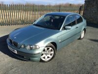 2001 51 BMW 320 TD COMPACT *DIESEL* 3 DOOR HATCHBACK - *NOVEMBER 2017 M.O.T* - GOOD EXAMPLE!!