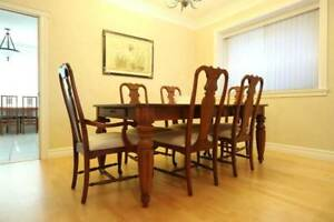 ***MUST GO NOW*** Solid Wood Dining Room Table and 6 chairs***