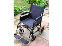 Invacare Folding Transit Wheelchair. Simply foldable for transport.