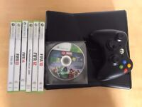 Xbox 360 4gb slimline console , controller & games , good condition ! Price stands , no offers !