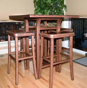 Table and Four Stools (bar height)