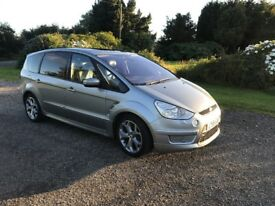 Ford S Max 7 seater 2,2 tdci ,175bhp , 6 speed gearbox TOP SPEC