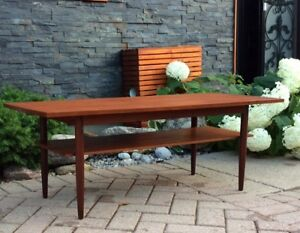 Danish Mid Century Modern Teak Coffee Table REFINISHED
