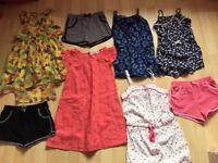 Bundle of summer clothes - Age 6-7 - dresses, jumpsuits, shorts, jacket, t-shirt, hats - 16 items