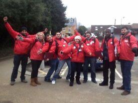 Red Cross door fundraiser - guaranteed hourly rate - £8.50-£12/hr