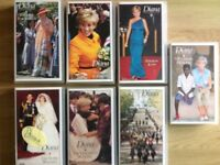 Collection of Princess Diana VHS videos