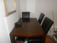 VERY CHEAP BROWN DINING TABLE