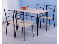 SALE! Modern Design Kitchen 5 Piece Dining Table and 4 Chairs Dining Room Furniture Set