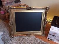 Vintage gold chalkboard blackboard Menu lovely gold chalkboard menu
