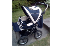 Emmaljunga twin double pram stroller pushchair