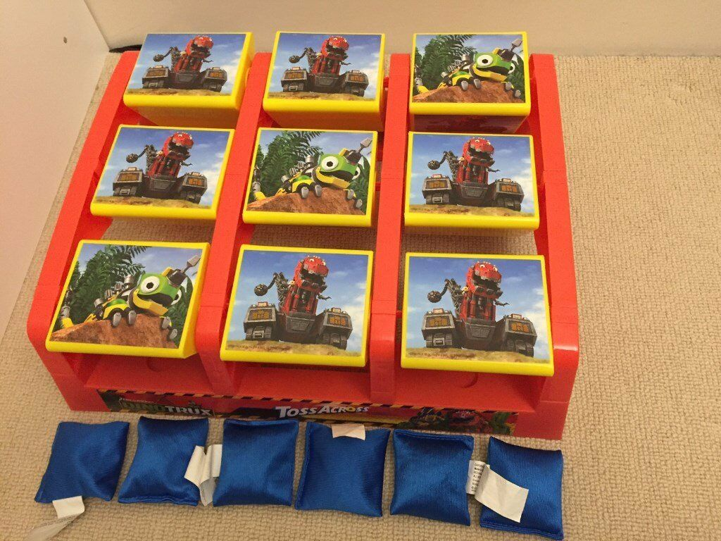 Dinotrux Toss Across indoor / outdoor beanbag birthday party game (like Paw Patrol game)