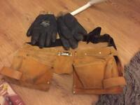 LOTS - Work Belt and gloves £12